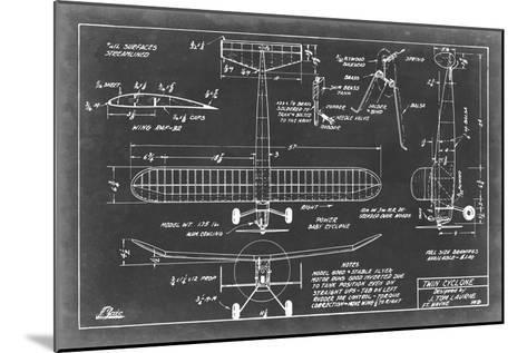 Aeronautic Blueprint VII-Vision Studio-Mounted Art Print