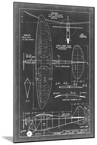 Aeronautic Blueprint I-Vision Studio-Mounted Art Print