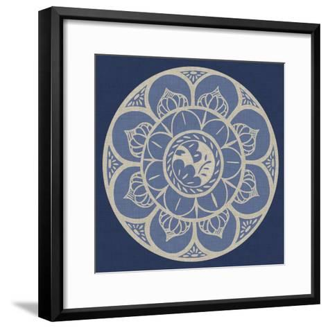 Indigo Earthenware I-Chariklia Zarris-Framed Art Print