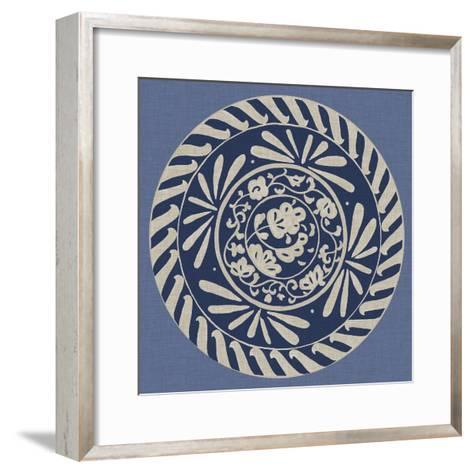 Indigo Earthenware II-Chariklia Zarris-Framed Art Print