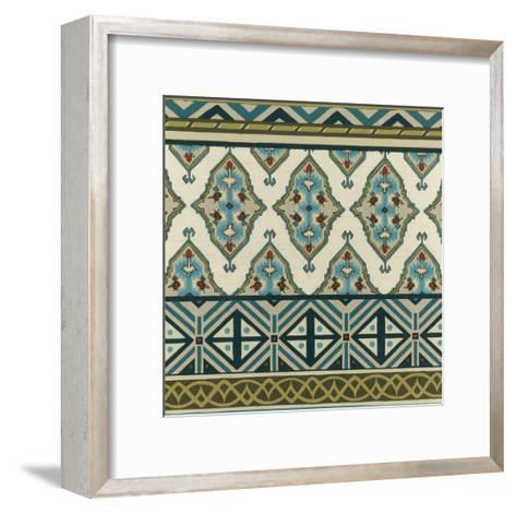 Turquoise Textile III-Erica J^ Vess-Framed Art Print