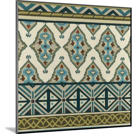 Turquoise Textile III-Erica J^ Vess-Mounted Art Print