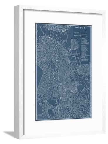 Graphic Map of Boston-Vision Studio-Framed Art Print
