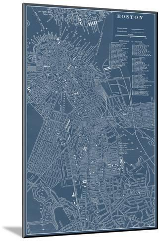 Graphic Map of Boston-Vision Studio-Mounted Art Print