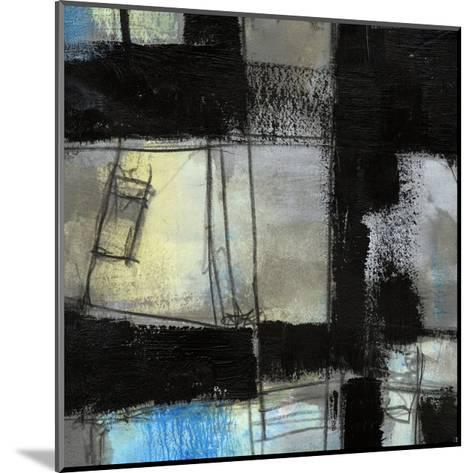 Black on Blue IV-Jennifer Goldberger-Mounted Art Print