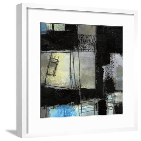 Black on Blue IV-Jennifer Goldberger-Framed Art Print
