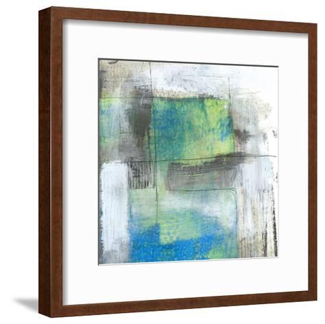 White on Blue II-Jennifer Goldberger-Framed Art Print