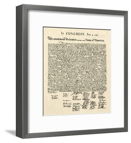 Declaration of Independence Doc.--Framed Art Print