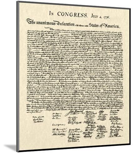 Declaration of Independence Doc.--Mounted Art Print