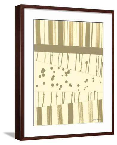 Papyrus Collage II-Vanna Lam-Framed Art Print