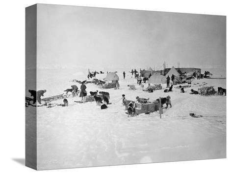 Shackleton's Base Camp on the Ross Ice Shelf--Stretched Canvas Print