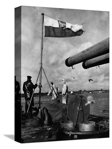 Polish Ships with British Fleet--Stretched Canvas Print