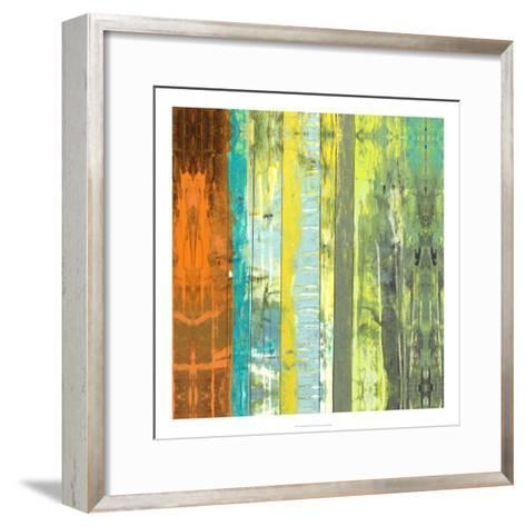 Embellished Vibrant Stripes II-Jennifer Goldberger-Framed Art Print