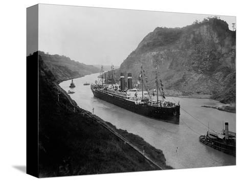 The S.S. Kronland in Panama--Stretched Canvas Print