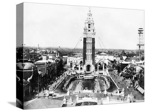 Aerial View of Dreamland Amusement Park at Coney Island--Stretched Canvas Print