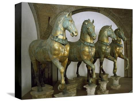 Bronze Horses of San Marco in Venice--Stretched Canvas Print