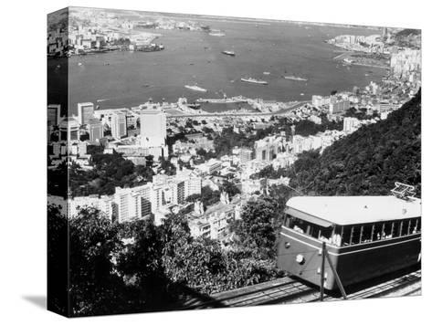 Peak Train with Hong Kong in Foreground-Philip Gendreau-Stretched Canvas Print