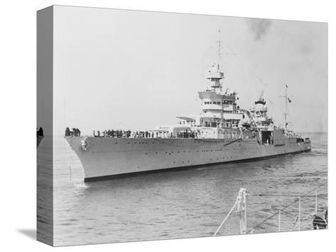 USS Indianapolis at Sea--Stretched Canvas Print