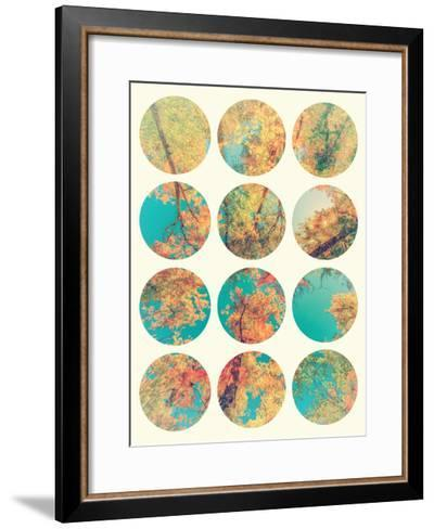 Inspirational Circle Design - Autumn Trees-SHS Photography-Framed Art Print