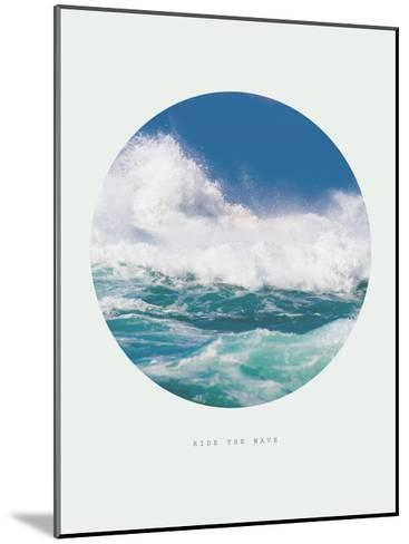 Inspirational Circle Design - Ocean Waves: Ride the Wave-michaeljung-Mounted Giclee Print