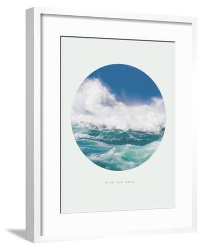 Inspirational Circle Design - Ocean Waves: Ride the Wave-michaeljung-Framed Art Print