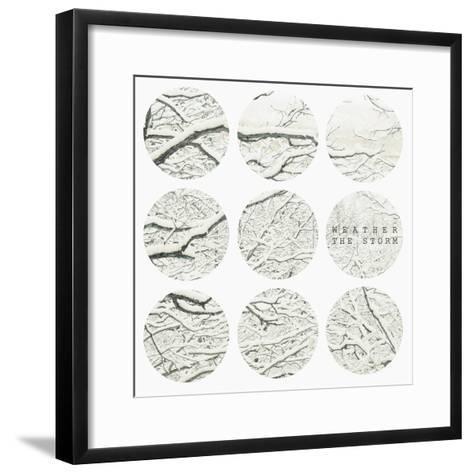 Inspirational Circle Design - Snowy Branches-WizData-Framed Art Print
