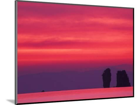 Pink Sky Reflected in Sea With Karst Islands, Phang Nga Bay, Thailand-John & Lisa Merrill-Mounted Photographic Print
