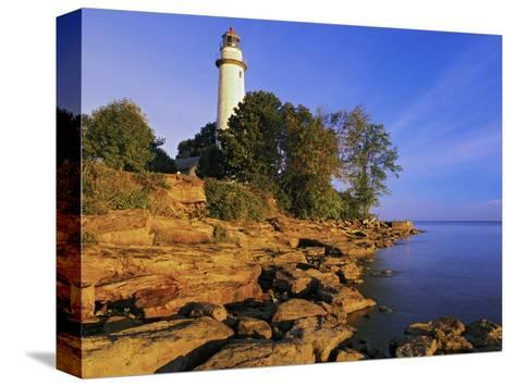 Pointe Aux Barques Lighthouse at Sunrise on Lake Huron, Michigan, USA-Adam Jones-Stretched Canvas Print