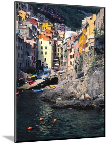 Harbor View of Hillside Town of Riomaggiore, Cinque Terre, Italy-Julie Eggers-Mounted Photographic Print