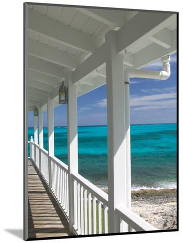 Porch View of the Atlantic Ocean, Loyalist Cays, Abacos, Bahamas-Walter Bibikow-Mounted Photographic Print