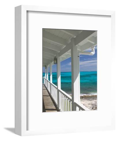 Porch View of the Atlantic Ocean, Loyalist Cays, Abacos, Bahamas-Walter Bibikow-Framed Art Print
