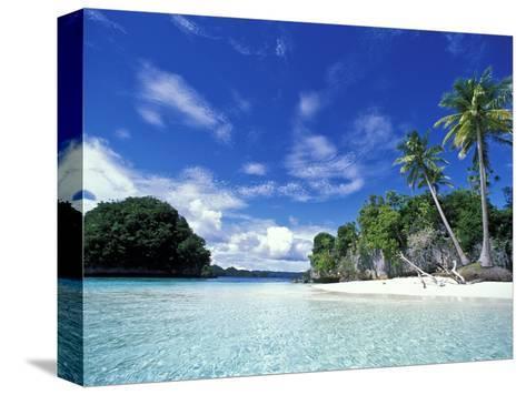 Bay of Honeymoon Island, World Heritage Site, Rock Islands, Palau-Stuart Westmoreland-Stretched Canvas Print