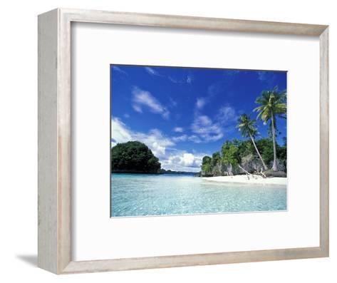 Bay of Honeymoon Island, World Heritage Site, Rock Islands, Palau-Stuart Westmoreland-Framed Art Print