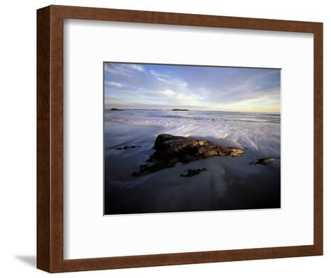Low Tide and Surf, Wallis Sands State Park, New Hampshire, USA-Jerry & Marcy Monkman-Framed Art Print