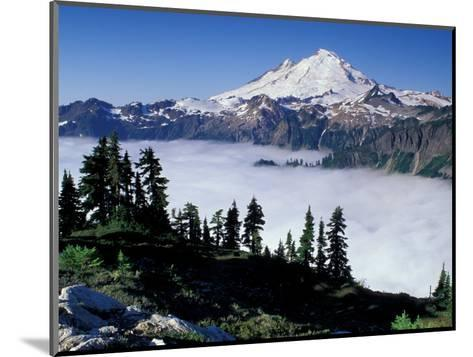 View of Mount Baker from Artist's Point, Snoqualmie National Forest, Washington, USA-William Sutton-Mounted Photographic Print