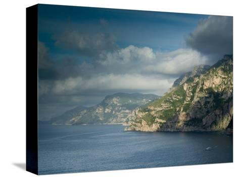 Morning View of the Amalfi Coast, Positano, Campania, Italy-Walter Bibikow-Stretched Canvas Print
