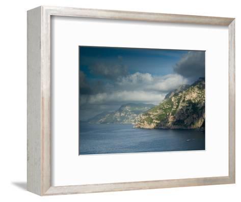 Morning View of the Amalfi Coast, Positano, Campania, Italy-Walter Bibikow-Framed Art Print