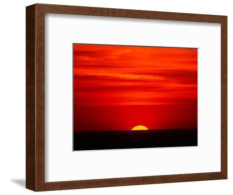 Sunset Over the Gulf of Mexico, Florida, USA-Charles Sleicher-Framed Art Print