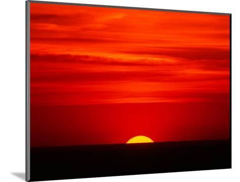 Sunset Over the Gulf of Mexico, Florida, USA-Charles Sleicher-Mounted Photographic Print