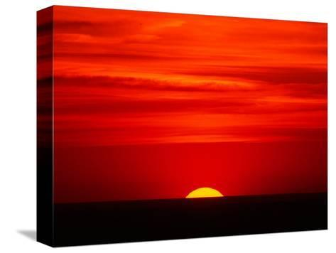 Sunset Over the Gulf of Mexico, Florida, USA-Charles Sleicher-Stretched Canvas Print