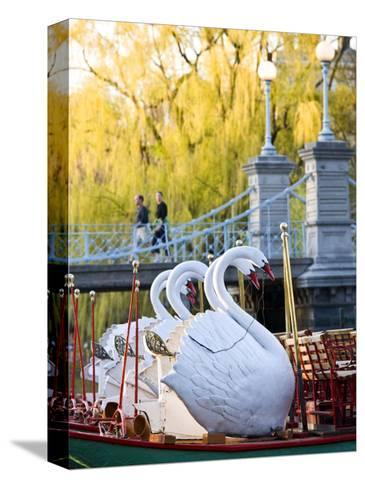 Swanboats, Public Garden, Boston, Massachusetts, USA-Walter Bibikow-Stretched Canvas Print