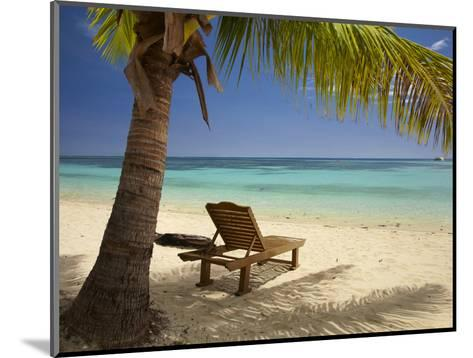 Beach and Lounger, Plantation Island Resort, Malolo Lailai Island, Mamanuca Islands, Fiji-David Wall-Mounted Photographic Print