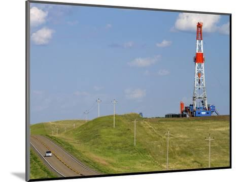 Patterson Uti Oil Drilling Rig Along Highway 200 West of Killdeer, North Dakota, USA-David R^ Frazier-Mounted Photographic Print