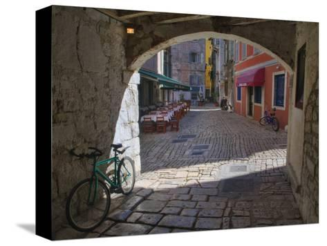 Outdoor Cafe, Rovigno, Croatia-Adam Jones-Stretched Canvas Print