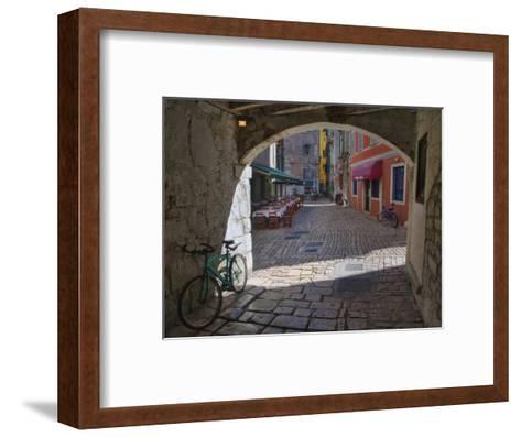 Outdoor Cafe, Rovigno, Croatia-Adam Jones-Framed Art Print