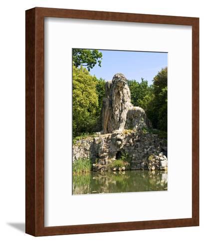 Apennine Colossus by Giambologna, Il Gigante Dell'Appennino, Villa Demidoff, Florence, Italy-Nico Tondini-Framed Art Print
