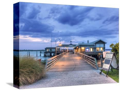The Jekyll Wharf and Latitude 31 Restaurant, Jekyll Island, Georgia, USA-Rob Tilley-Stretched Canvas Print