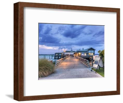 The Jekyll Wharf and Latitude 31 Restaurant, Jekyll Island, Georgia, USA-Rob Tilley-Framed Art Print