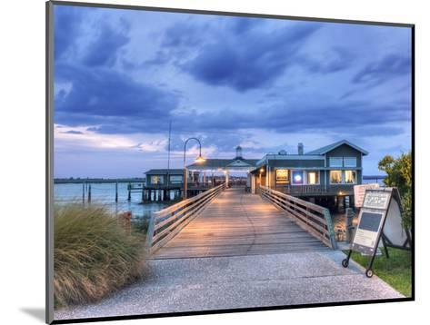The Jekyll Wharf and Latitude 31 Restaurant, Jekyll Island, Georgia, USA-Rob Tilley-Mounted Photographic Print