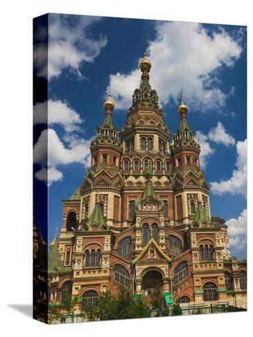 Saints Peter and Paul Cathedral, Peterhof, Saint Petersburg, Russia-Walter Bibikow-Stretched Canvas Print